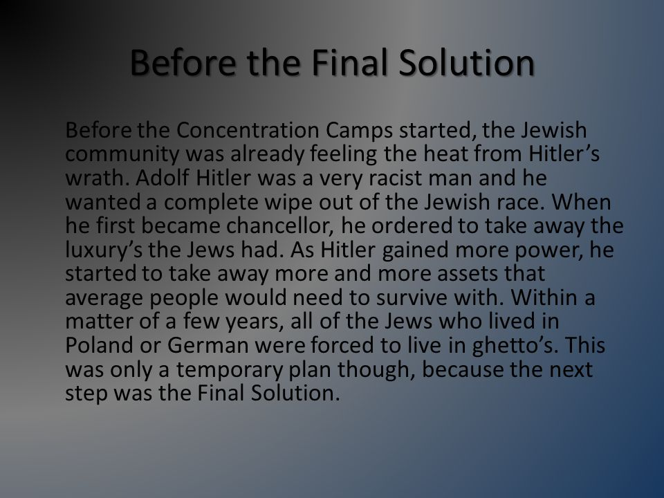 Definition of Concentration Camp: A group of labor and death camps located in Germany and Nazi-occupied Europe for the incarceration of Nazi opponents, other undesirables, political dissidents, Gypsies, Russian POWs and Jews.