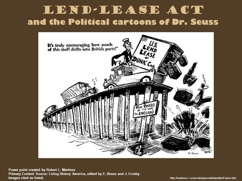Lend-Lease Act and the Political cartoons of Dr.