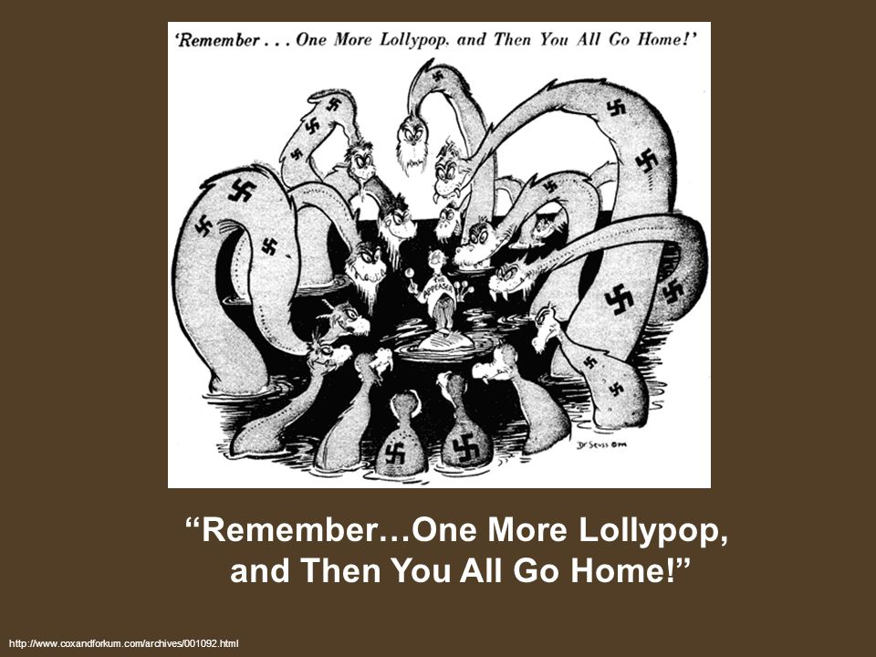 Remember…One More Lollypop, and Then You All Go Home!