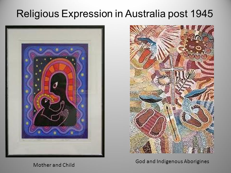 Mother and Child God and Indigenous Aborigines