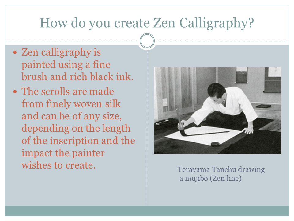How do you create Zen Calligraphy.