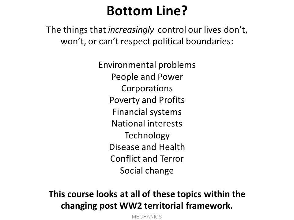 Politics and Economics Politics studies comparative systems of governance.