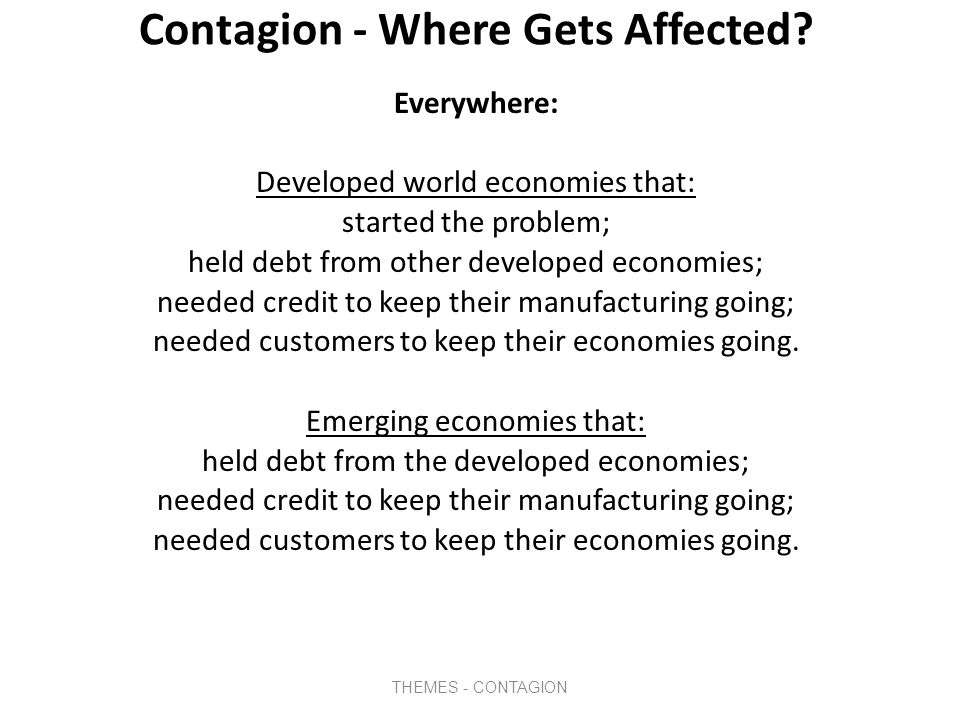 Contagion - Who Gets Affected.