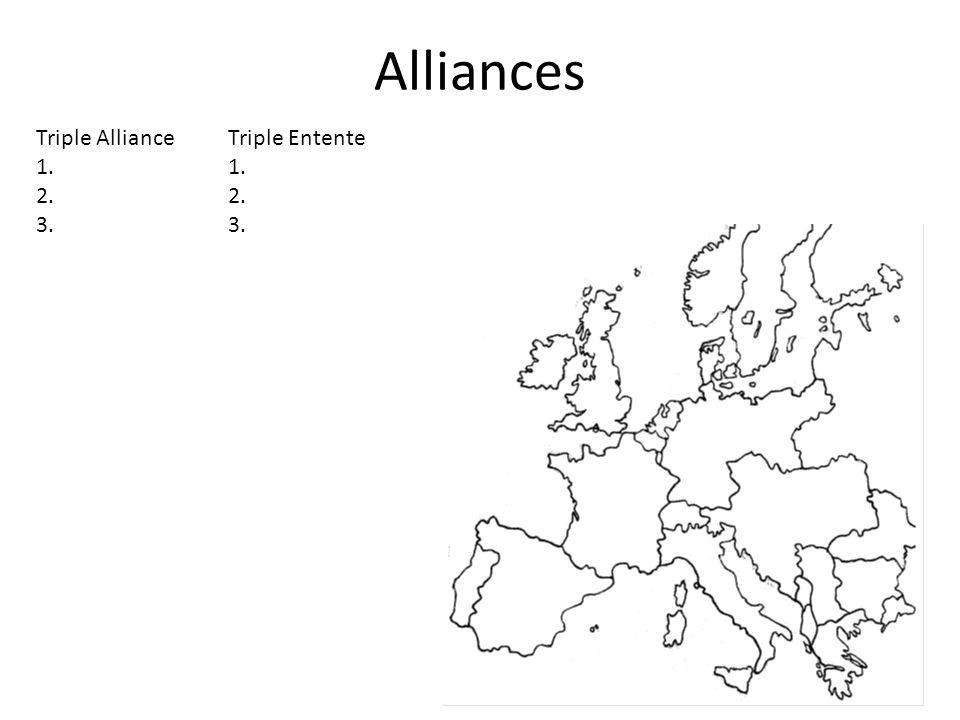 Alliances Triple AllianceTriple Entente1.2.3.