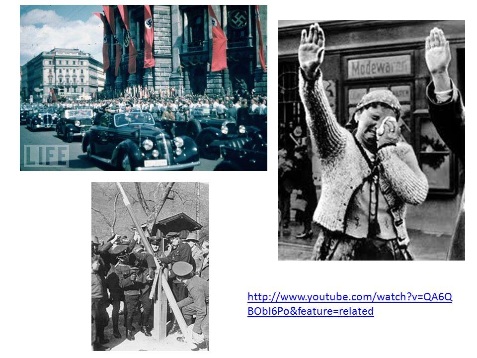 Appeasement 1938: Hitler annexes the Sudetenland from Czechoslovakia.