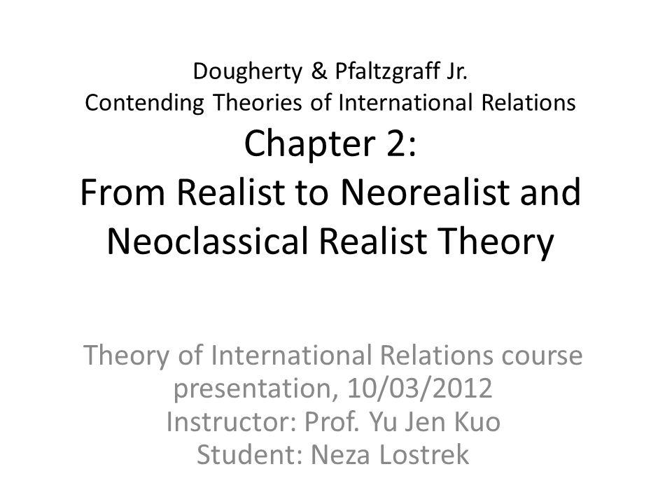 Theoretical foundations Realist IR Theory: The Mid-Twentieth Century Hans J.