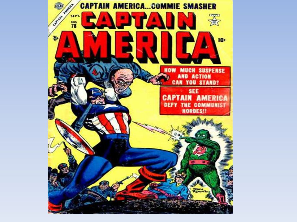 Generally speaking, in time of crisis, the USA have always liked to strengthen the feeling of national unity Here is a March 1941 issue of Captain America where we can see the hero, punching Hitler.