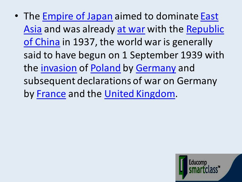 Aftermath Main article: Aftermath of World War IIAftermath of World War II The Allies established occupation administrations in Austria and Germany.AustriaGermany The former became a neutral state, non-aligned with any political bloc.