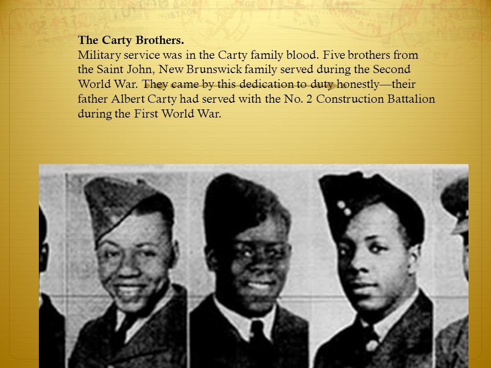 The Carty Brothers. Military service was in the Carty family blood.
