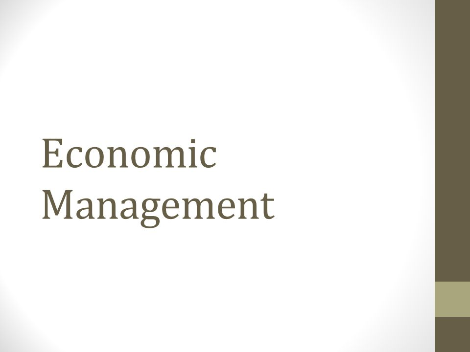 Economic Management