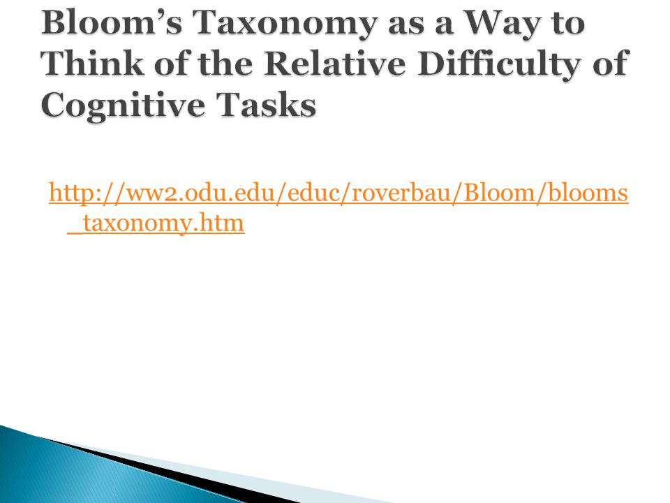 http://ww2.odu.edu/educ/roverbau/Bloom/blooms _taxonomy.htmhttp://ww2.odu.edu/educ/roverbau/Bloom/blooms _taxonomy.htm