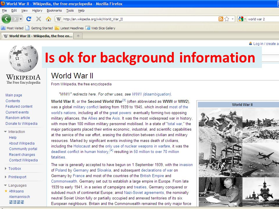 Is ok for background information