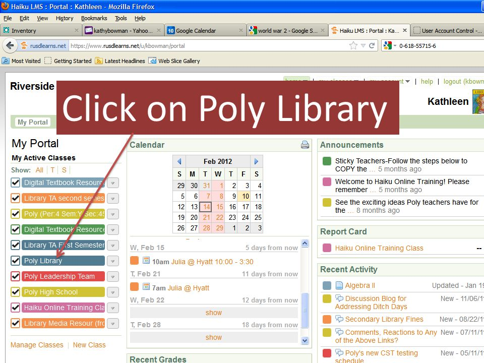 Click on Poly Library