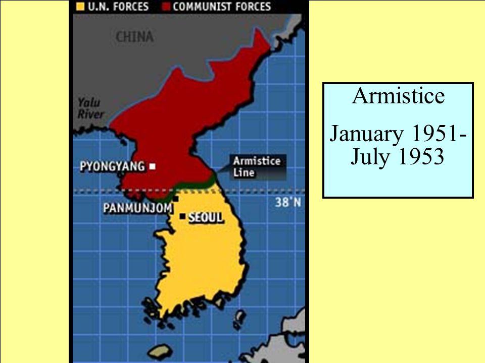 Armistice January 1951- July 1953