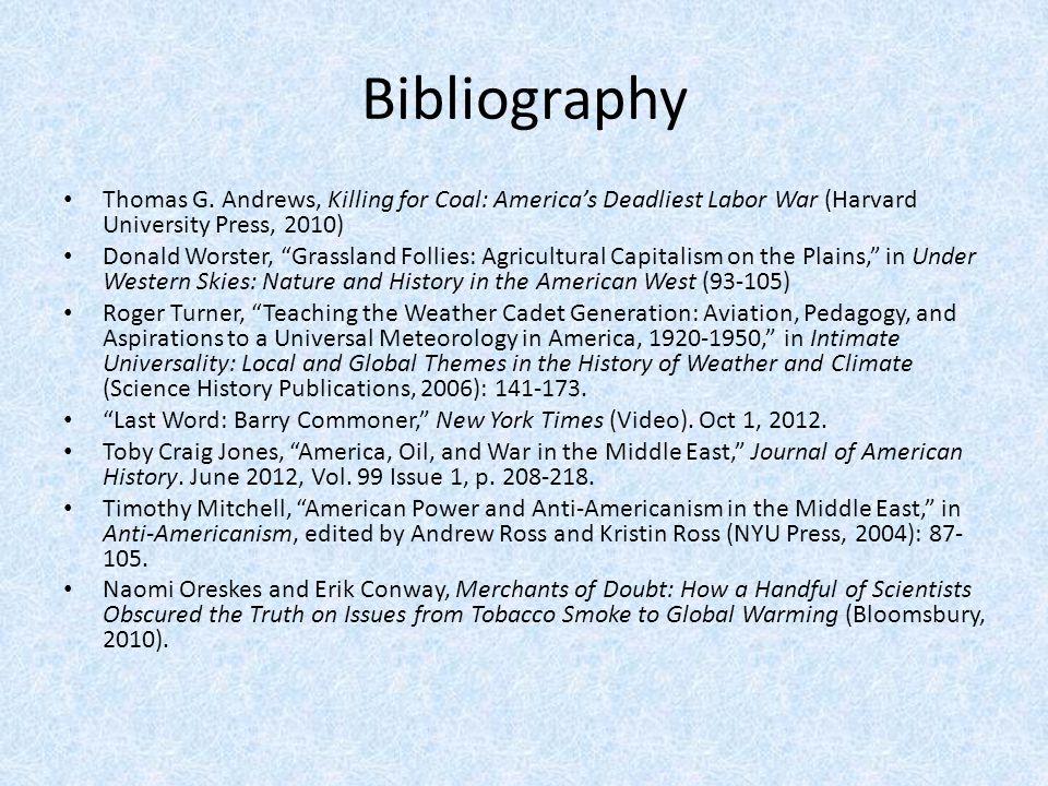 Bibliography Thomas G.