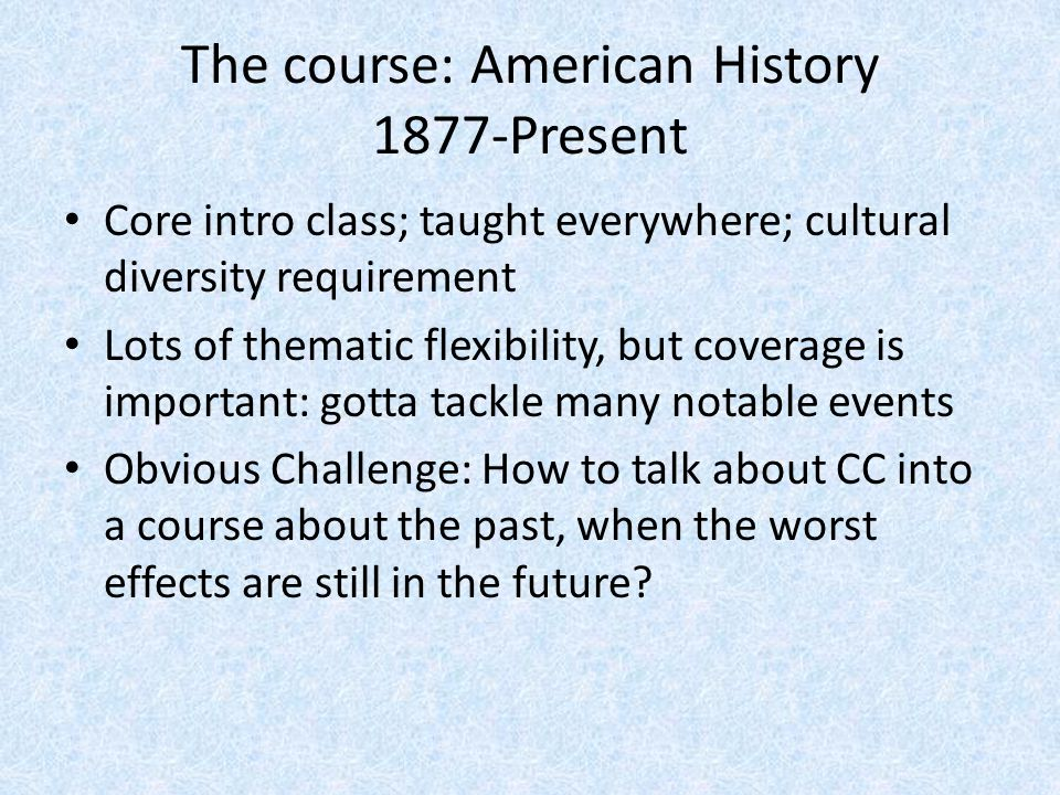 Foundation laid across semester Gilded Age/Immigration: Dev.