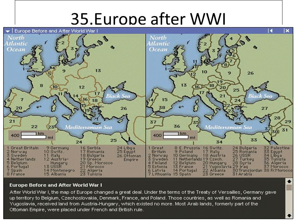 35.Europe after WWI