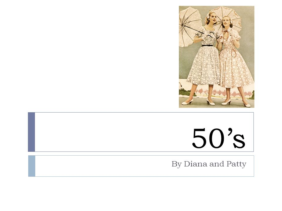 50's By Diana and Patty