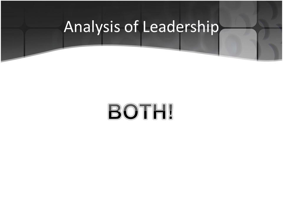 Analysis of Leadership