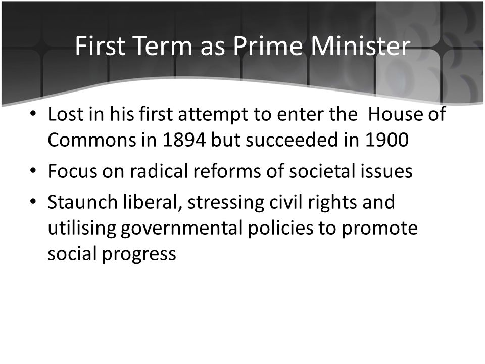 First Term as Prime Minister Became Prime Minister after Chamberlain resigned Refused to any peace agreement with Germany Led Britain to success during WW2 Anti-communist – Hated Nazism more