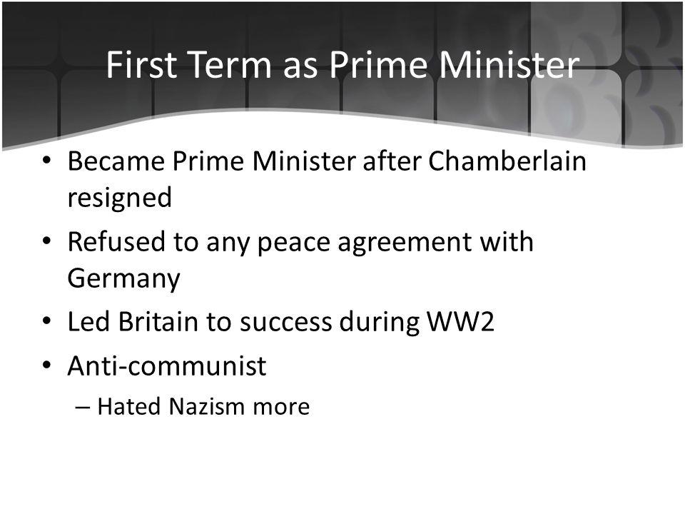 Despite the success in WW2, Churchill had many opponents.