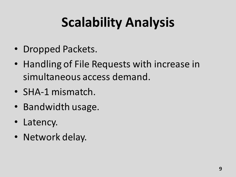 Scalability Analysis Dropped Packets.
