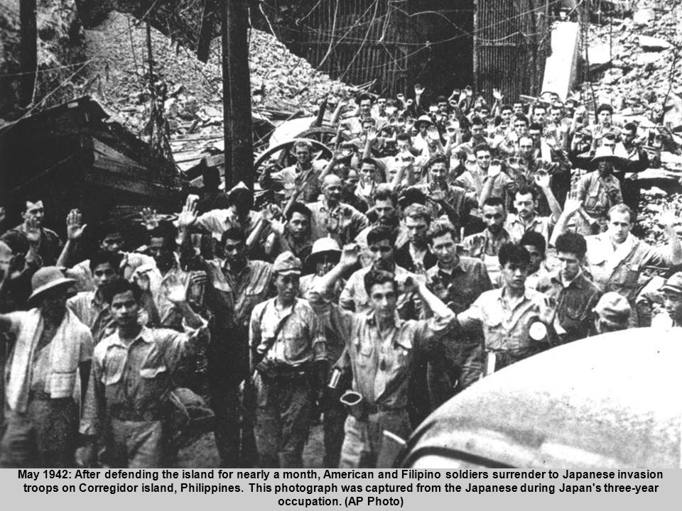 23 May 1942: After defending the island for nearly a month, American and Filipino soldiers surrender to Japanese invasion troops on Corregidor island,