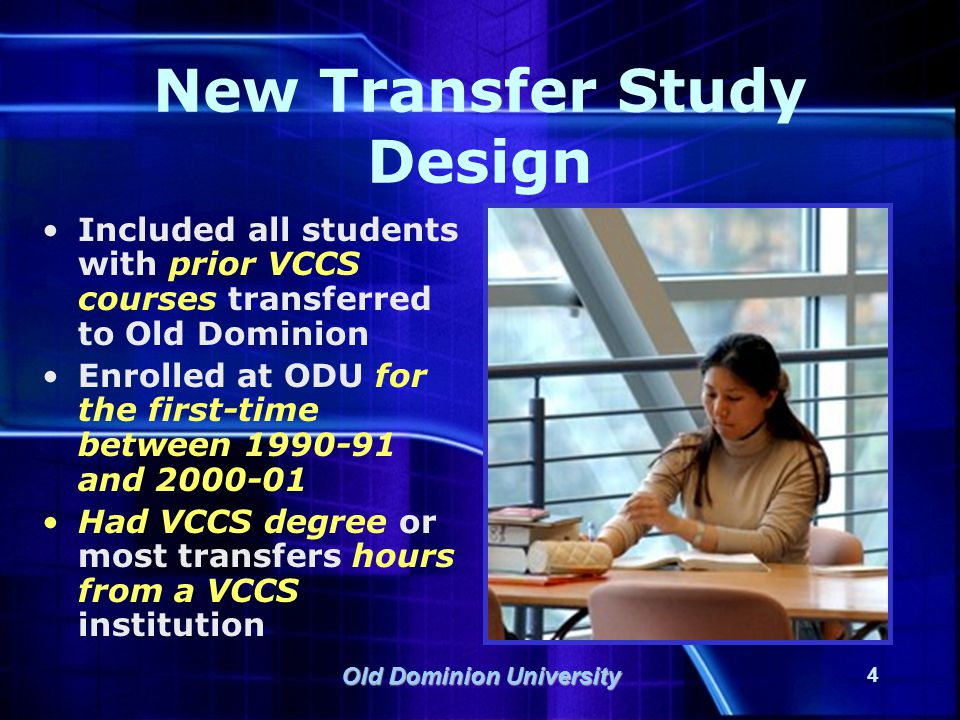 Old Dominion University 15 Academic Difficulty and Retention