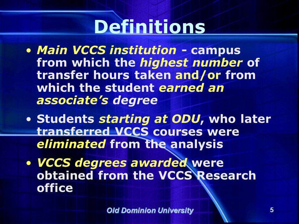 Old Dominion University 16 ODU Degree Completion