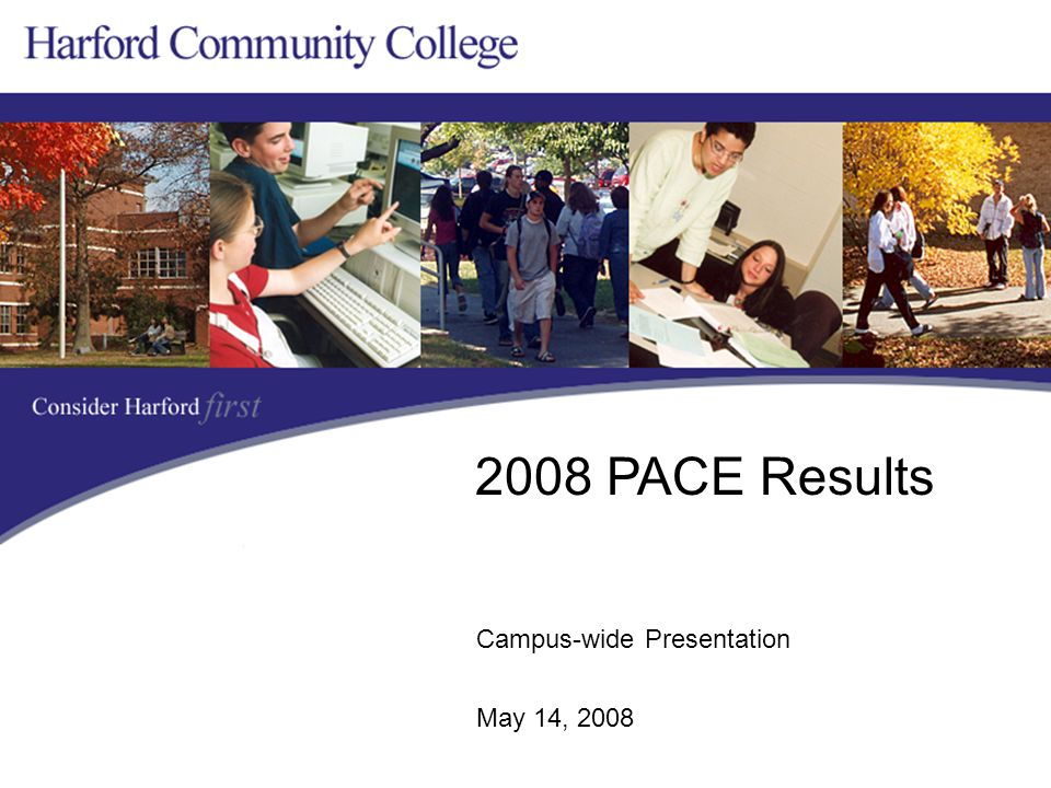 Campus-wide Presentation May 14, 2008 2008 PACE Results