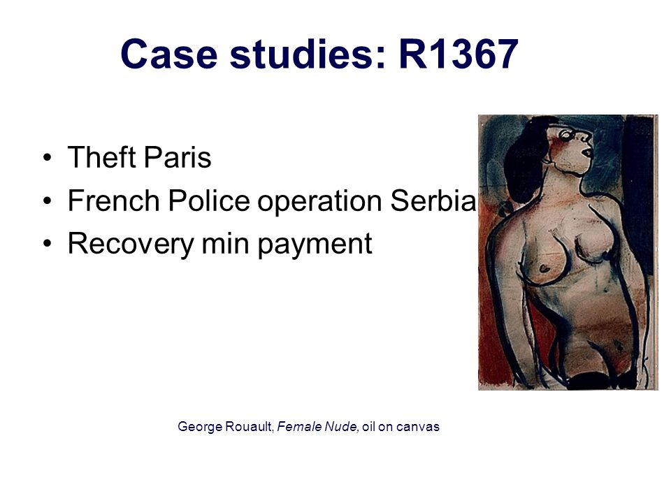 CASE STUDIES: R 1315 Theft in Oberwil Switzerland Insurer suspicious Items in Serbia inflated values.