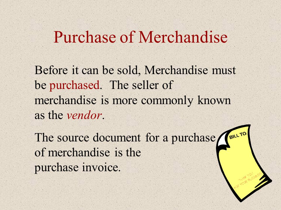 Affect of Discount on Merchandise Inventory Notice that the purchase discount is deducted directly from the Merchandise Inventory account.