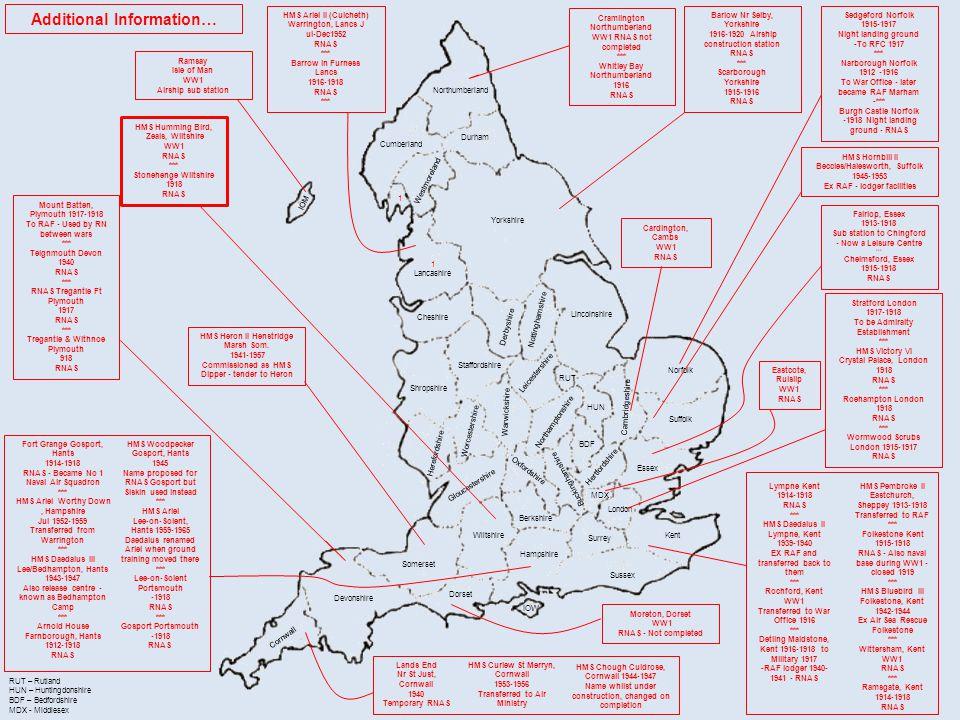 Northumberland Cumberland Durham Yorkshire 1 Lancashire Cheshire Derbyshire Nottinghamshire Lincolnshire Shropshire Westmoreland Staffordshire Leicest