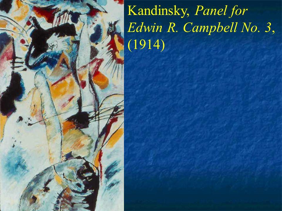 Kandinsky, Improvisa- tion No. 30: On a Warlike Theme (1913)