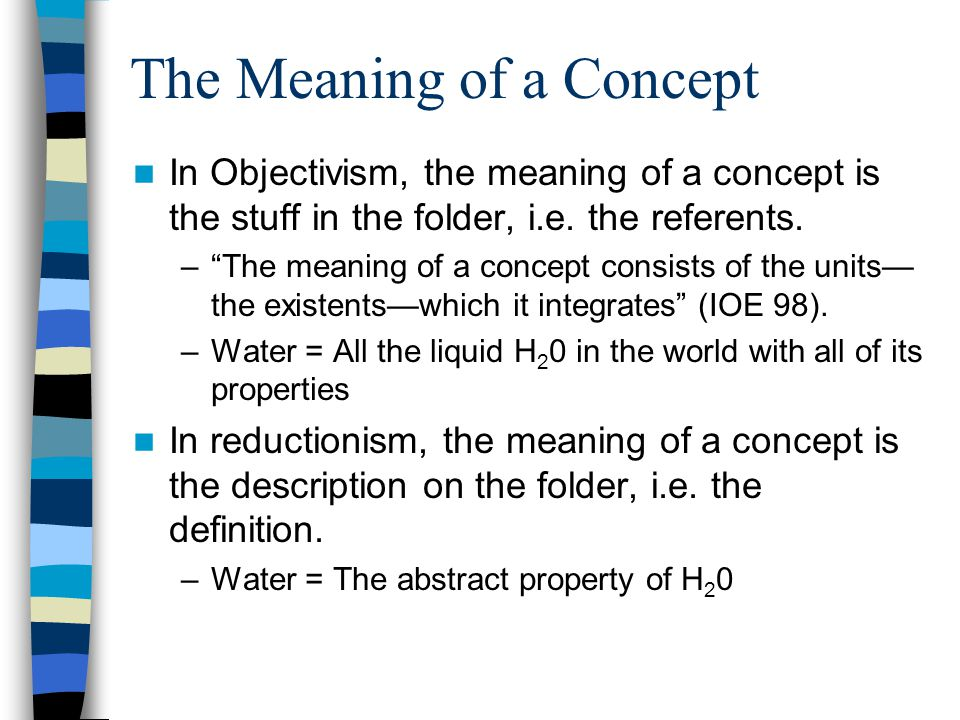 The Non-Defining Properties In Objectivism, the non-defining features are included in the concept.