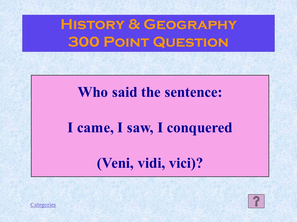 Categories The Amalfi Coast History & Geography 200 Point Answer