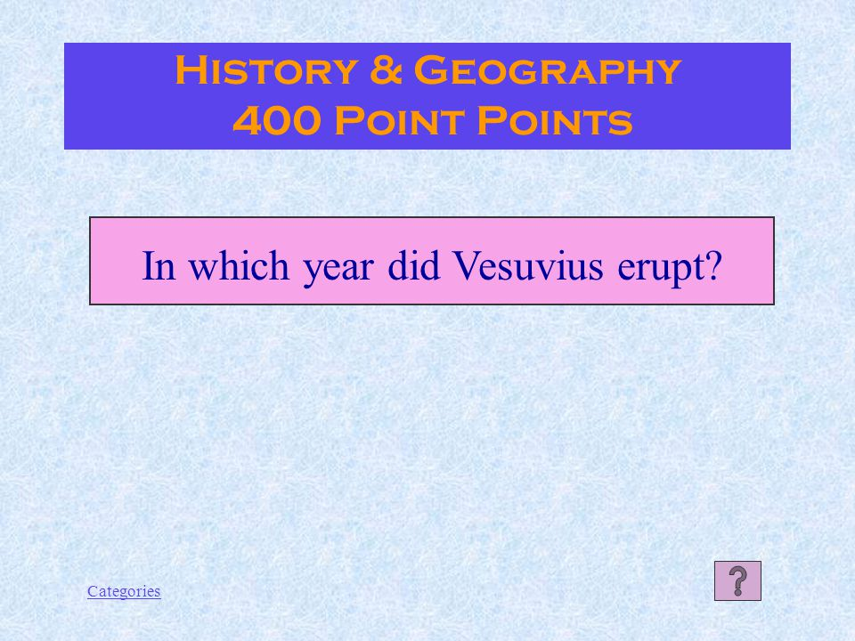 Categories History & Geography 300 Point Answer Julius Ceasar