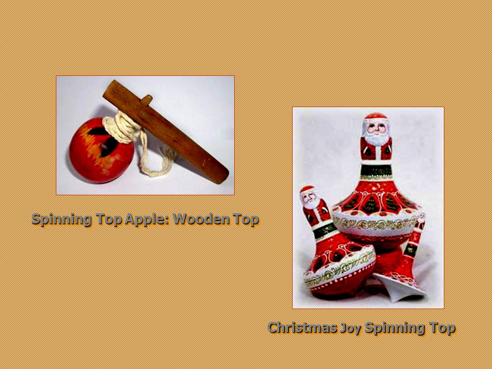 Top Apple: Wooden Spinning Top Christmas Joy Spinning Top
