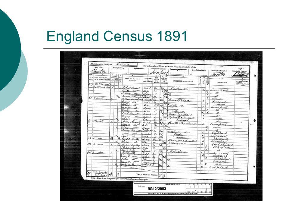 England Census 1891