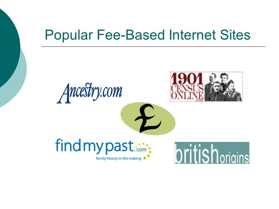 Popular Fee-Based Internet Sites