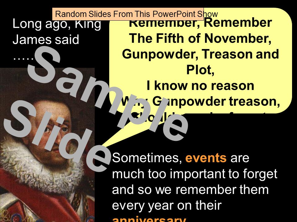 Random Slides From This PowerPoint Show ? What do we mean by remembering? Sample Slide