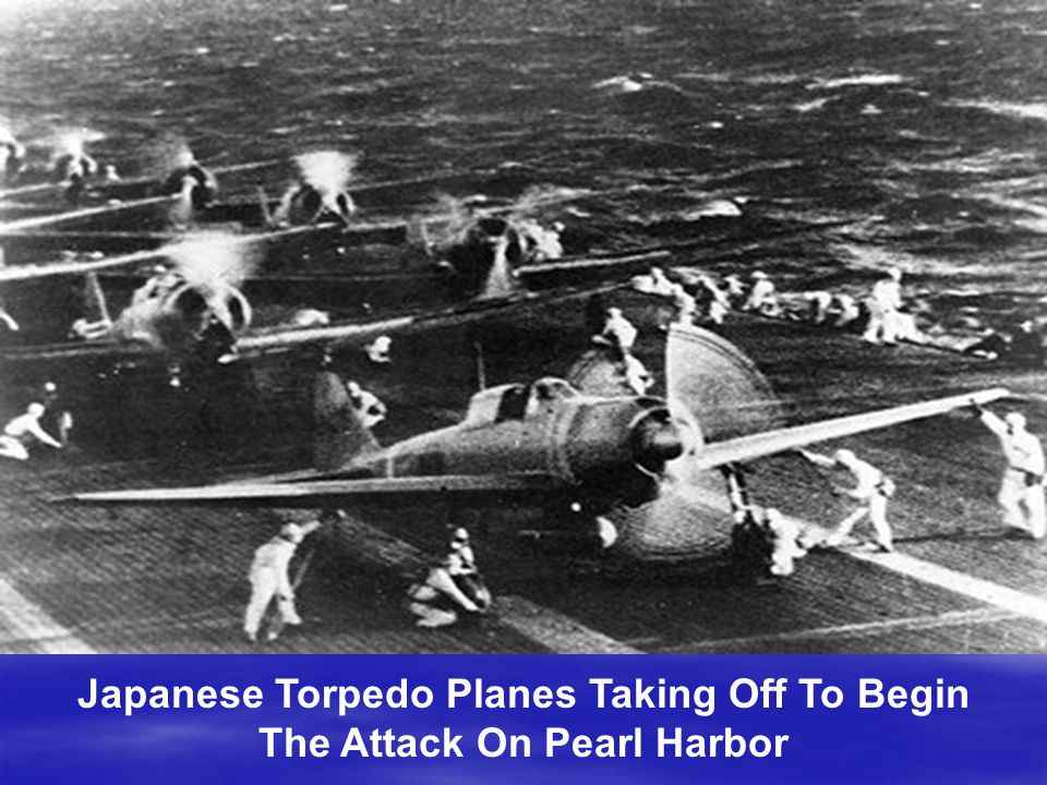 Japanese Torpedo Planes Taking Off To Begin The Attack On Pearl Harbor