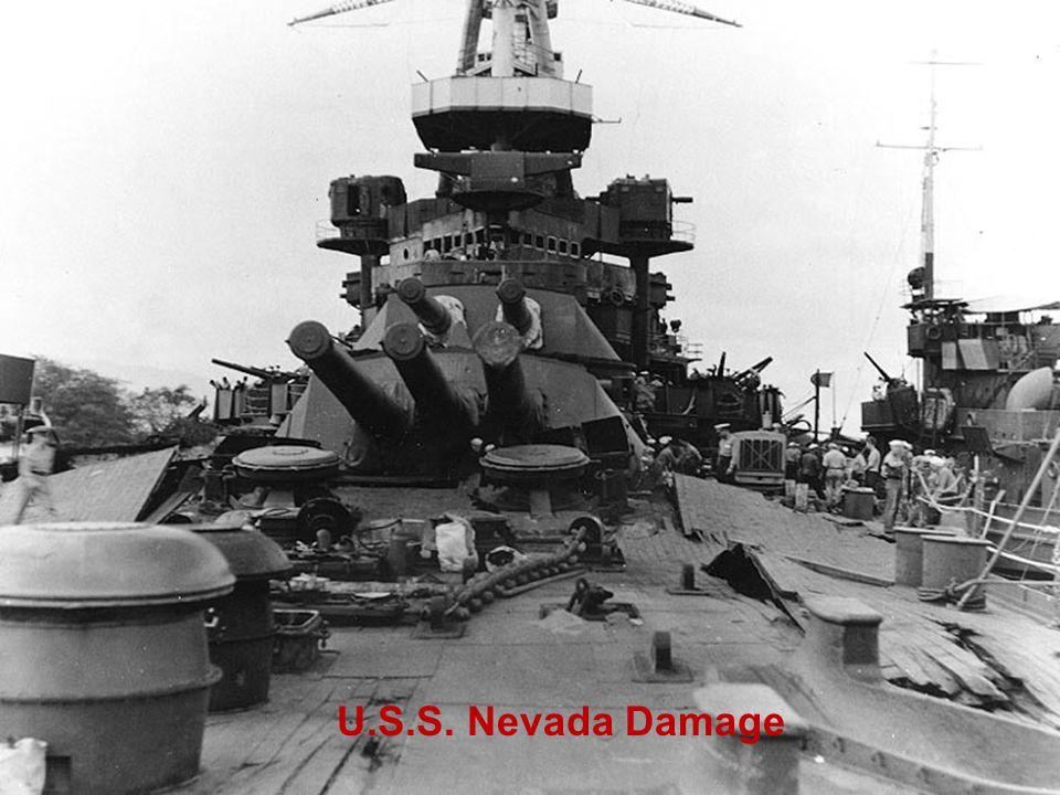 U.S.S. Nevada Damage