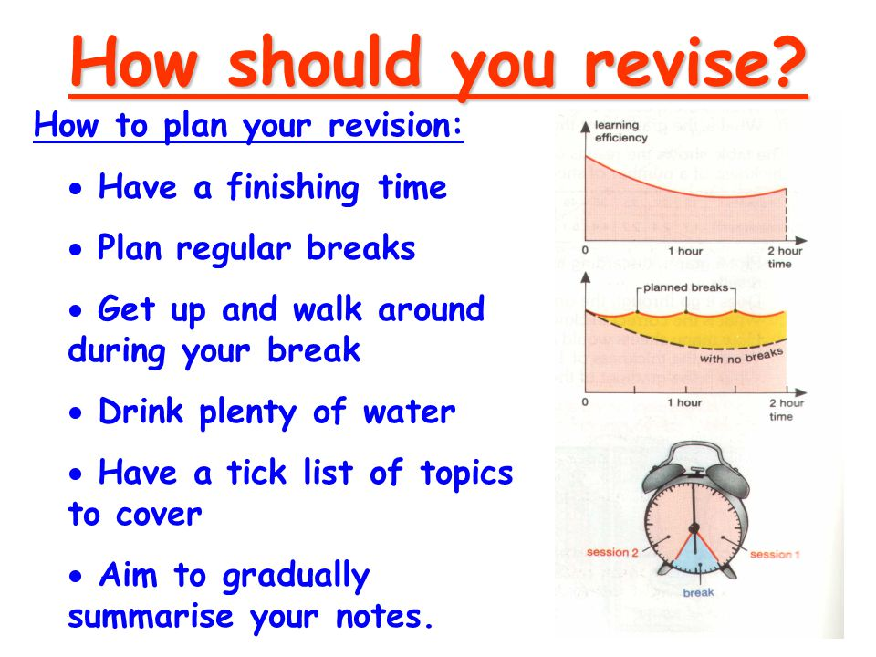 Active Revision Strategies Walk n'Talk Time Line Flow Chart 1 Flow Chart 2 Brainstorm Mind maps Storyboard Interlocking circles Doodles Spider Diagrams Colour it Mnemonic Clock Sequence Annotation Book mark Talk it through