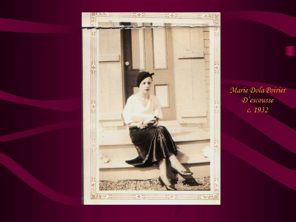 Marie Dola Poirier D'escousse c. 1932