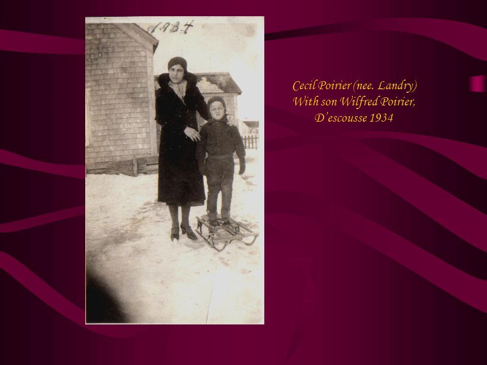 Cecil Poirier (nee. Landry) With son Wilfred Poirier, D'escousse 1934