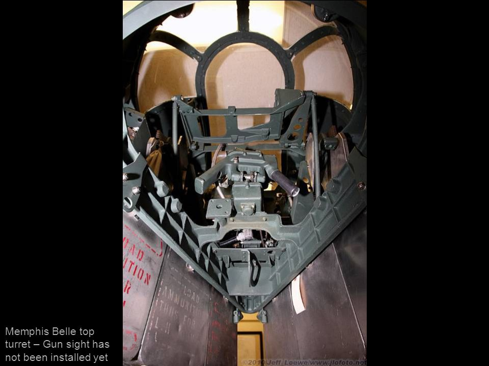 Memphis Belle top turret – Gun sight has not been installed yet