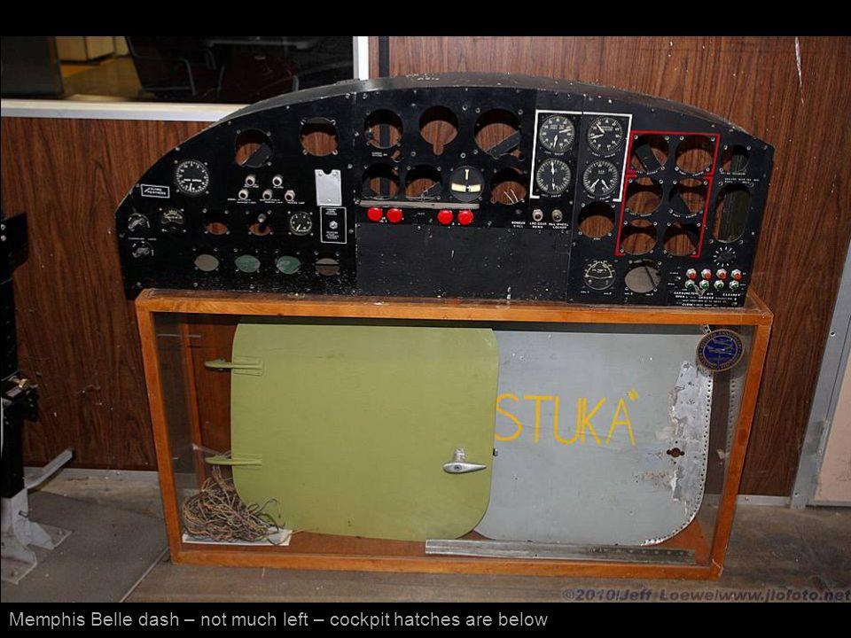 Memphis Belle dash – not much left – cockpit hatches are below