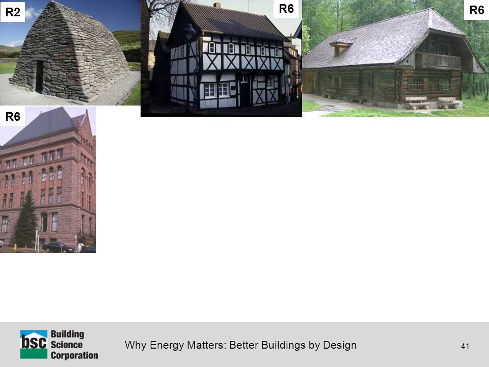 Why Energy Matters: Better Buildings by Design 41 Insulation - History R2 R6