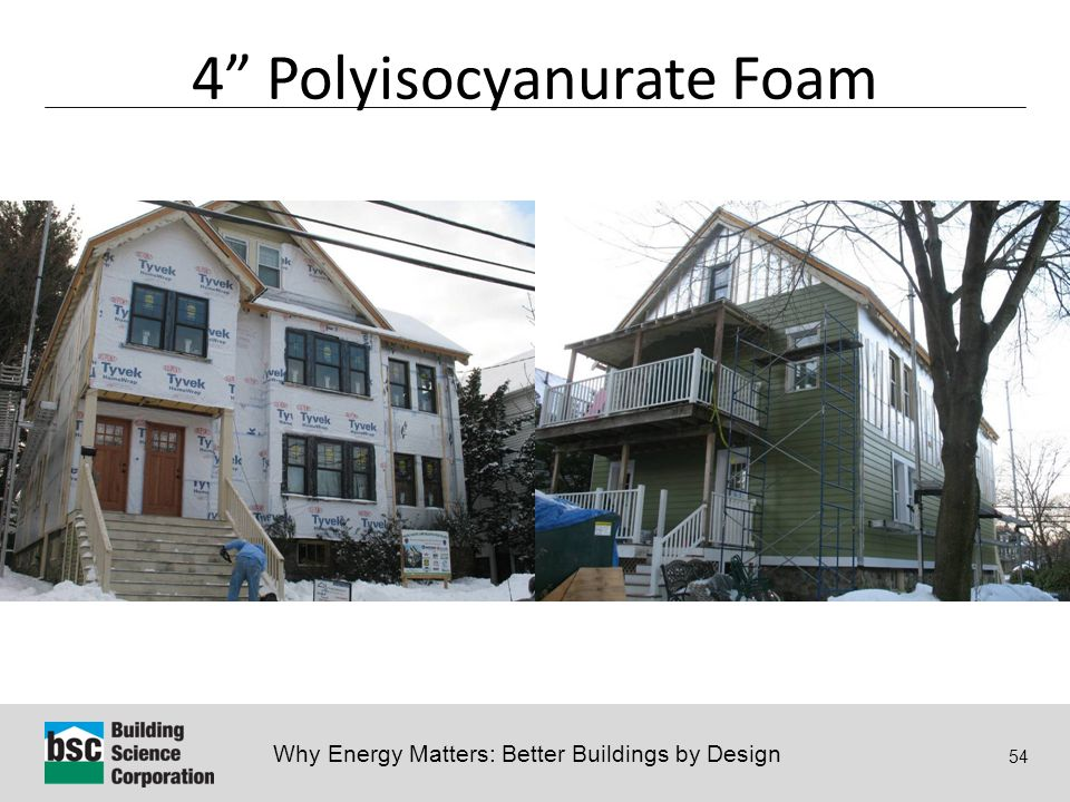 """Why Energy Matters: Better Buildings by Design 54 4"""" Polyisocyanurate Foam"""